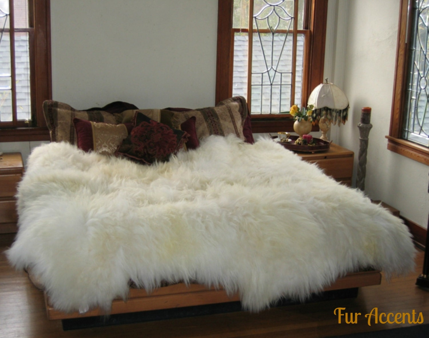 Shag Sheepskin Faux Fur Area Rug Thick Mongolian By Furaccents
