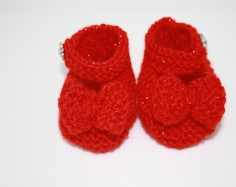 Wizard of Oz Red Slippers for Baby Girl // Size 0 - 3 Months // Cute Baby Gifts // Baby Girl Clothing // Baby Shower Gifts
