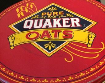 Quaker Oats, vintage tin, tin