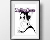 SUPER SALE***  Rolling Stones Magazine Madonna Cover Graphic Illustration 6x4 - Art Print