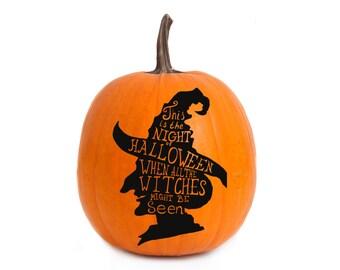 Halloween Witch Vinyl Decal