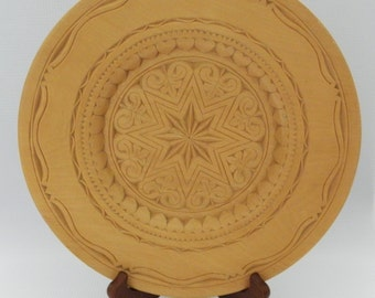 Hand Carved Wooden Decorative Plate / Tray