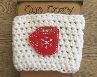 RTS Winter Hot Chocolate Coffee Cozy Ready to Ship