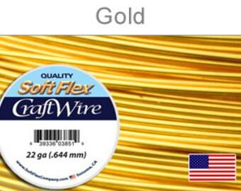22ga. Gold Soft Flex Wire, Round, Silver Plated, Non-Tarnish, Supplies, Findings, Craft Wire