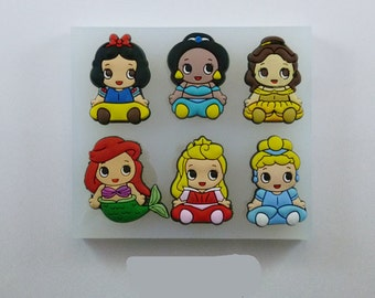 Princess Silicone Mold - Snow White Jasmine Belle Ariel Aurora Cinderella Baking Fondant Wedding Cake Decorating Tools