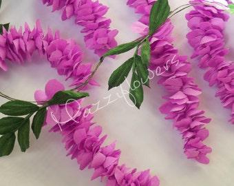 Bridal garland,wedding garland,paper flower ,wisteria paper flower ,party garland, paper flower,lilac wisteria,paper flower decor