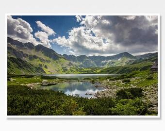 Mountain Print, Mountain Photo Print, Landscape Print, Landscape Photograph, Tatra Mountains, Polish Wall Art, Poland Photo Mountain Picture