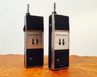Channel-Master vintage walkie-talkies dual channel transceiver, ham radio, two way radio
