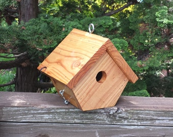 Wooden bird house, pine reclaimed wood birdhouse, repurposed wood bird house, outdoor decor