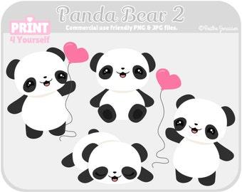 Panda Bear Clipart // Instant download Panda Bear Clipart // Commercial use clipart // Instant download clipart // Clipart