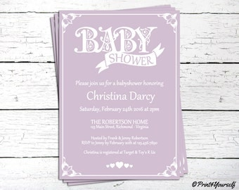 Decorative Baby Shower Invitation - Baby Shower invite - Baby Shower Invite - Decorative Baby Shower - Printable - Invites