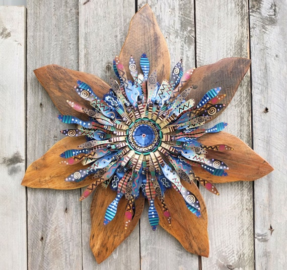 Outdoor Cabin Wall Decor : Indigo blue cabin art wreath rustic outdoor by salvageandbloom