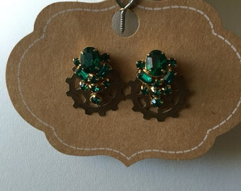 E0013-20 Steampunk Earrings