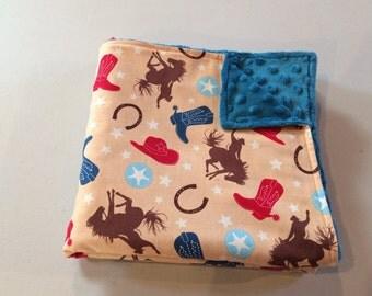Western Baby Blanket, Horse Baby Blanket, Minky Baby Blanket, Horse Baby Bedding, Western Baby Bedding, Cowboy Baby Blanket, Cowboy Baby