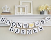 Engagement Party Decor, Soon to Be Banner, Engagement Party Banner, Engagement Party Ideas, Bridal Shower Decor, Gold Glitter, B202