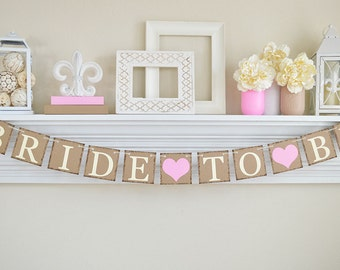 Pink Bridal Shower, Bride To Be Banner, Bridal Shower Decor, Bachelorette Party, Rustic Bridal Shower, Bridal Shower Banner, Cotton Candy