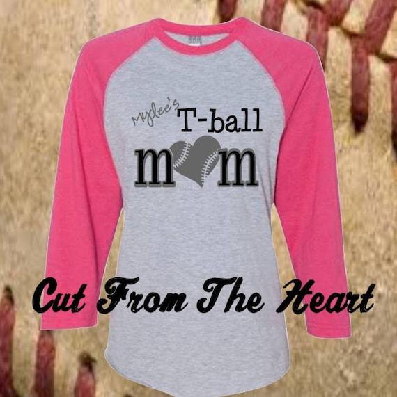 Personalized tee ball baseball shirt game day shirt for Custom baseball tee shirts
