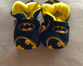 Batman Baby Booties One Size Fits Most 0-18 months