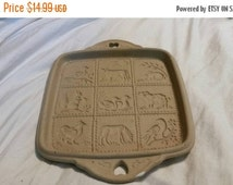 On Sale Brown Bag Cookie Art 1990 Country Home Collection Shortbread   Cookie Mold or Wall Décor Square Tray