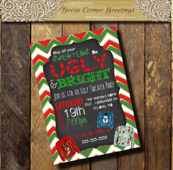Printable UGLY SWEATER Invitation