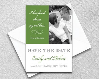Save the Date Magnet + Envelope - Photo wedding magnets - The One Design