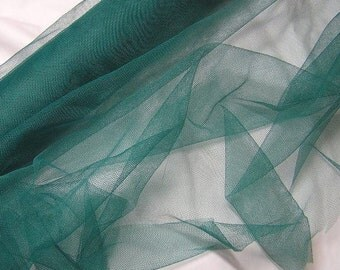 Forest or Christmas Green Net Tulle BY the YARD, 58 In. Wide, Supple Tulle, Craft Fabric for Evening Wear, Costumes, Christmas, Hats, Dolls
