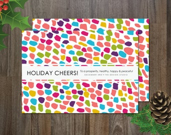 Holiday Cheers! Holiday Non-Photo Card Digital Template Instant Download Printable