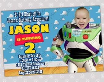 Buzz Lightyear Birthday Party Invitation - Digital File