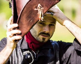 PIRATE LEATHER HAT [Made on Order]