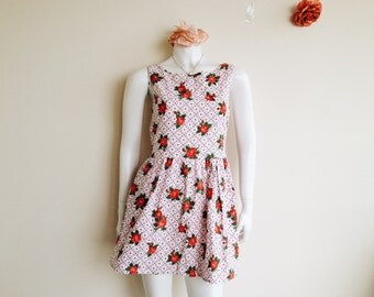 Floral Vintage Style Mini Sleeveless Dress