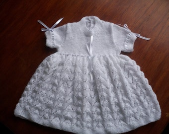Baby Hand Knitted Vintage Dress