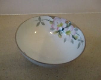 Nippon, Vintage bon bon dish , hand painted, 3 footed, signed, , pre-used