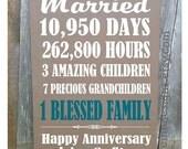 30th, 40th, 50th Anniversary Gift, 5th,10th,20th,25th Anniversary Gift, Parent Gift, Grandparent Gift, Personalized, Castle Inn Designs