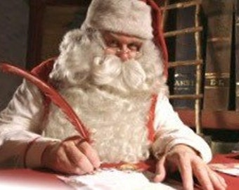 Personalized letter from Santa Claus deadline for letters Saturday Decmber 19th.