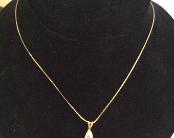 Gold toned necklace 18 in