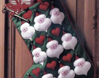 Vintage Santa Stocking - Felt Pattern