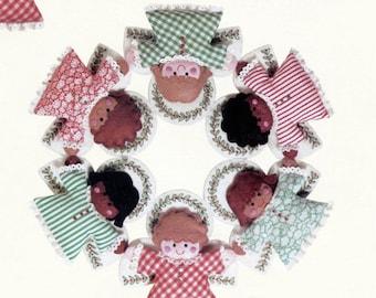 Angel Wreath - Felt Pattern