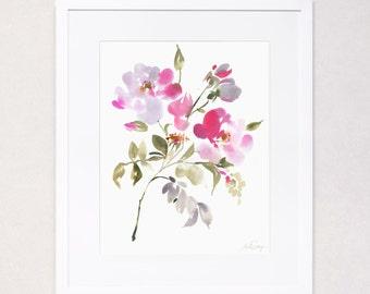 Botanical Floral Study No. 1 (Watercolor Art Print)