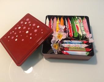 Kit kat 15 flavors set in lunch box jyubako bento from Japan valentine gift