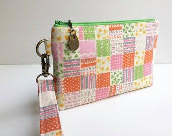 Wristlet - Pouch - Change Purse - Change Pouch - iPhone Pouch - Clutch - Bridesmaid Clutch - Phone Wristlet - Wallet - Wristlet Wallet