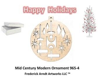 965-4 Mid Century Modern Christmas Ornament