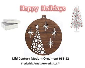 965-12 Mid Century Modern Christmas Ornament