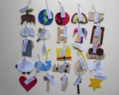 Our 'Entry' set - 25 felt Jesse Tree ornaments with hooks and tags
