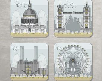 Architectural Coasters - London landmarks