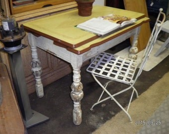 Wood and Ceramic Vintage Table