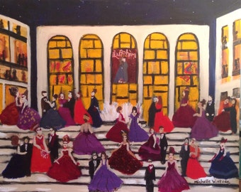Opening Night Gala at the Metropolitan Opera, signed original painting