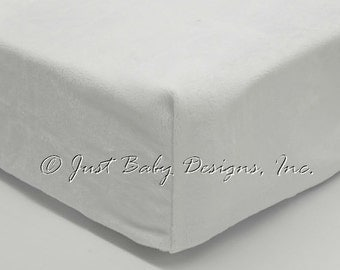 Fitted Crib Sheet - Smooth White Minky