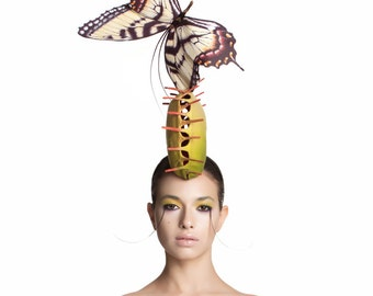 Venus Fly Trap and Butterfly, Carnivorous Plant Fascinator