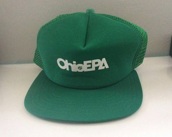 Ohio EPA Trucker Cap 70s Vintage  Hat Made in USA By New Era