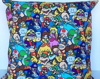 Mario throw pillow cover